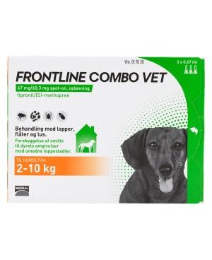 Препарат Спот Он за  външно обезпаразитяване при кучета -Frontline combo  2-10 кг.,  1 пипета