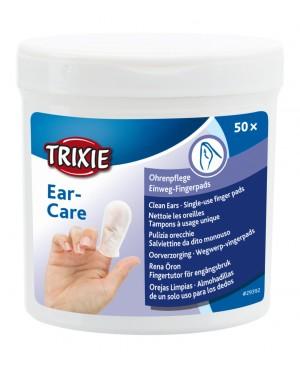 тампони за почистване на уши за кучета и котки -Trixie 50бр.