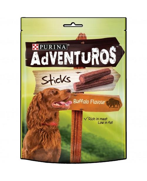 Лакомство за куче AdVENTuROS Sticks с бизонско 120гр.