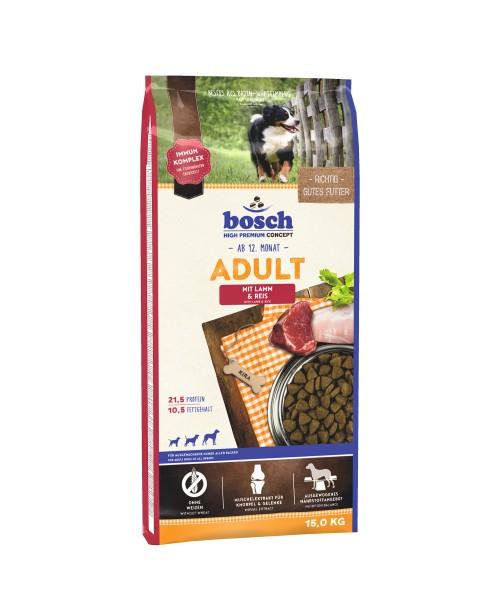 Суха храна за кучета  Bosch Adult агнешко и ориз 15кг.