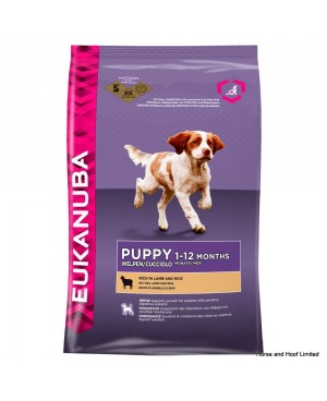 Суха храна за кучета  Eukanuba Puppy Small / Medium Breed агнешко и ориз 18кг.