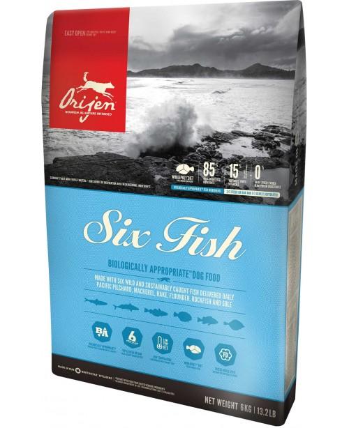 Суха храна за кучета Orijen Adult Six Fish Dog - Кучета