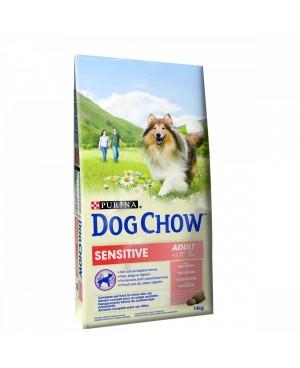Суха храна за кучета  Purina Dog Chow Adult Sensitive сьомга - Кучета