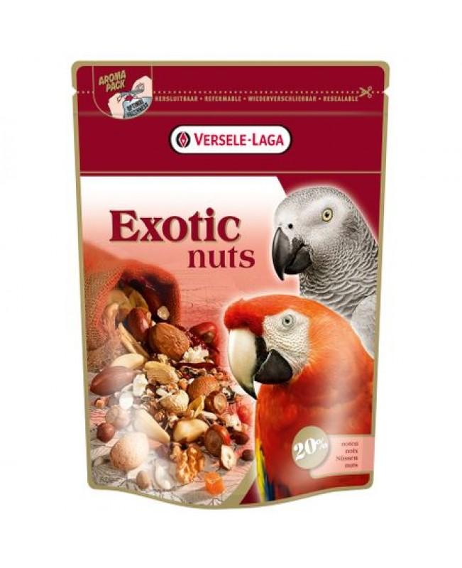 EXOTIC NUTS 0.750KG- ПЪЛНОЦЕННА ХРАНА ЗА ГОЛЕМИ ПАПАГАЛИ С ЯДКИ - Птици