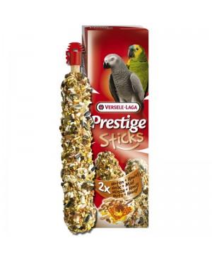 PRESTIGE STICKS PARROTS NUTS & HONEY - СТИК ЗА ГОЛЕМИ ПАПАГАЛИ С ЯДКИ И МЕД -2БР.  - Птици