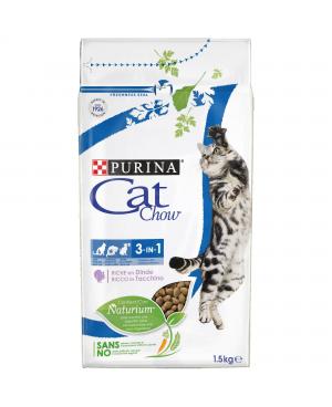 Суха храна за котки Cat Chow Special Care 3 в 1 с пуешко - Суха храна