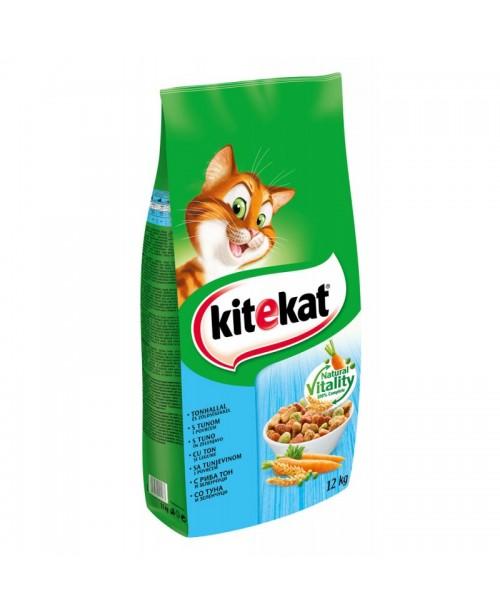 Суха храна за котки  KITEKAT Риба тон със зеленчуци 12кг.