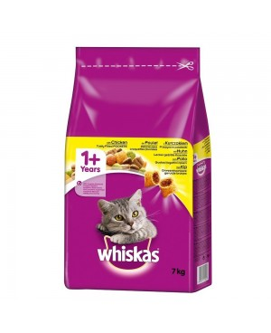 Суха храна за котки Whiskas 1+ с пилешко - Суха храна